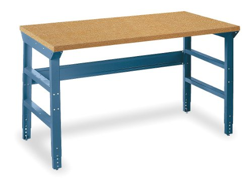 (Edsal BMT7236B Basic Premier Adjustable Leg Work Benches, Shop Top, Easy to Assemble, Steel Shelf Material, 1 Level, 72