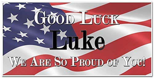 Good Luck Going Away Military Banner Personalized Party Backdrop Decoration ()