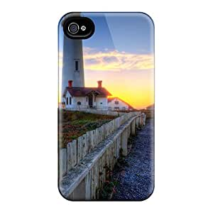 Shockproof/dirt-proof Pigeon Point Lighthouse Covers Cases For Iphone(6)