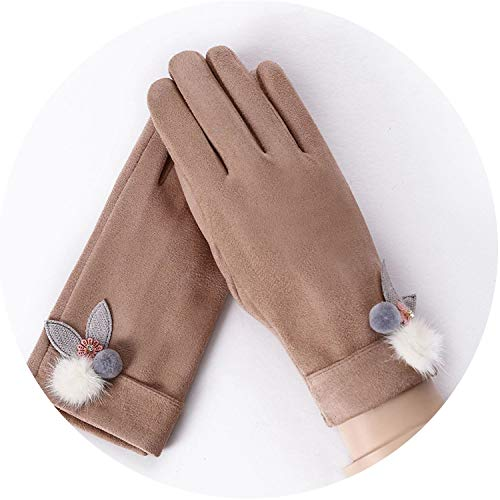 New Gloves Cashmere Warm Gloves Winter Plush Thick Mittens Women Wrist Touch Screen Driving Gloves,Ball 5