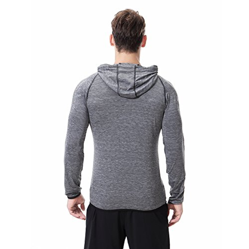 AIRAVATA Men's Hoodies Zip Up Slim Fit Lightweight Long Sleeve Workout Hoody Jacket