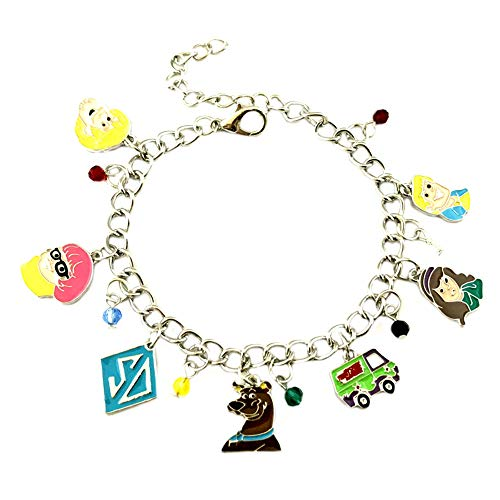 Athena Brands Scooby Doo Cartoon Charm Bracelet Quality Cosplay Jewelry Series with Gift Box]()