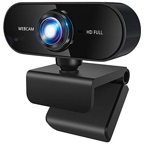 🥇 Agedate Webcam 1080P Full HD con Micrófono Estéreo USB 3.0 Plug and Play Cámara Web Enfoque automático