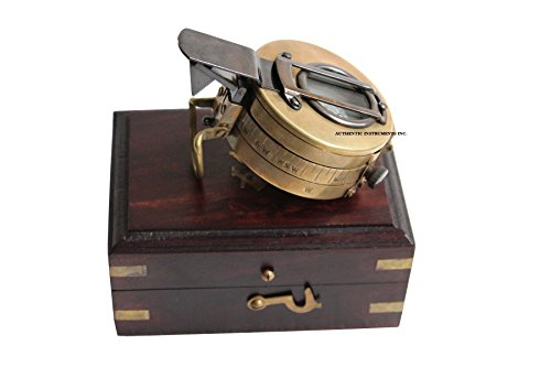 US HANDICRAFTS Multi-Functional Military Army Brass Compass with Map Measure Distance Calculator Great for Hiking, Camping, Motoring, Boating, Backpacking. (Measure Map Compass)