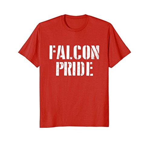 Mens Falcon Pride T Shirt for any Sports Fan School Spirit Shirt 2XL Red