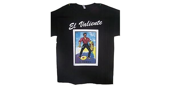 Amazon.com: El Valiente camisetas de lotería camisetas ...
