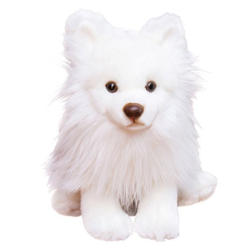 Luckstar Pomeranian Dog Plush Toy, 9-Inch, White