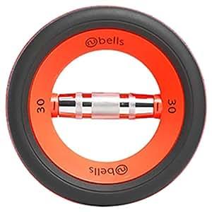 Nubells NFNFC-A1030OR 30 Lbs Pair Dumbbells, Orange/Black