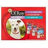 PACK OF 5 – Ol' Roy Variety Pack Mini Chunks in Gravy Wet Dog Food, 5.3 Oz, 12 Ct