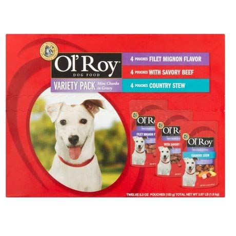 Variety Pack Mini Chunks in Gravy Wet Dog Food, 5.3 Oz, 12 Ct ()