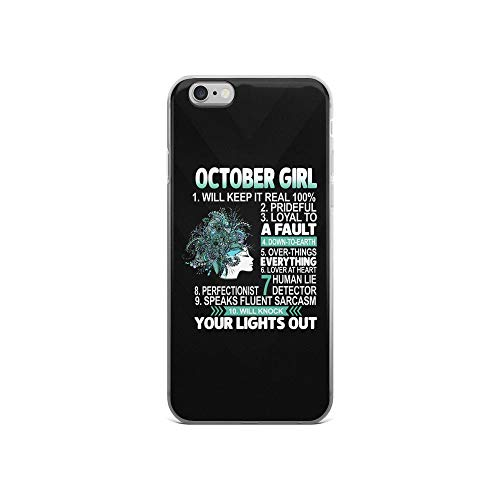 iPhone 6/6s Pure Clear Case Cases Cover Typography Beautiful October Girl Things -