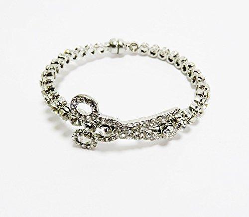 Silver Tone Scissor Magnetic Bracelet