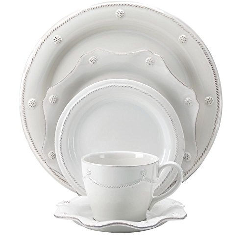 Juliska Berry and Thread Whitewash 5 Piece Place Setting (Thread Ceramic Scallop)