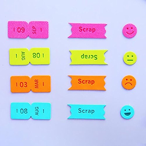 NPLE--Imitation Leather Month Sticker Bookmark Sticky Note Marker Flag Memo Tab - Card University Mall Gift