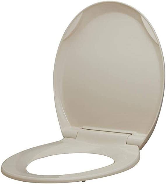 Glacier Bay Round Closed Front Toilet Seat Lift-Off White Standard Quality New