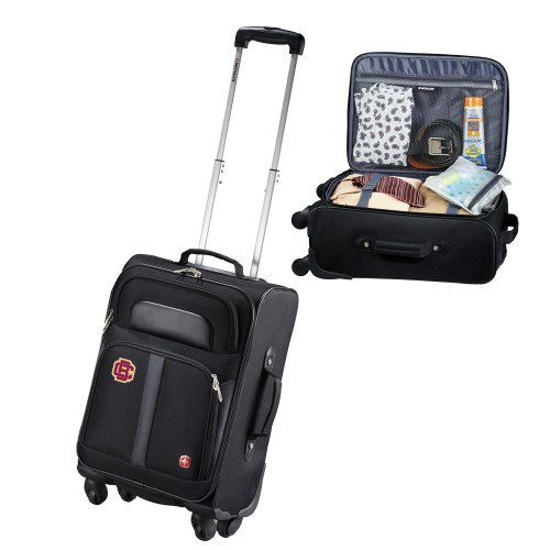 Bethune Cookman Wenger 4 Wheeled Spinner Black Carry On 'Primary Mark' by CollegeFanGear