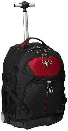 CALPAK Cato Antique Ruby 18-inch Rolling 13-inch Laptop (Calpak Rolling Backpacks)