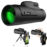 12X50 Monocular Telescope, F.DORLA High Power Prism Low Night Vision Waterproof Fogproof Spotting Scope for Adults with Cell Phone Adapter and Tripod for Bird Watching Hunting Camping (Style1)