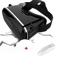 usun VR Casque virtuel 3D VR 3D Lunettes vidéo look2Google en carton Version Lunettes 3D VR, 6+Gamepad