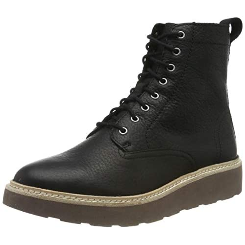 chollos oferta descuentos barato Clarks Trace Pine Botas Slouch Mujer Negro Black Leather Black Leather 36 EU
