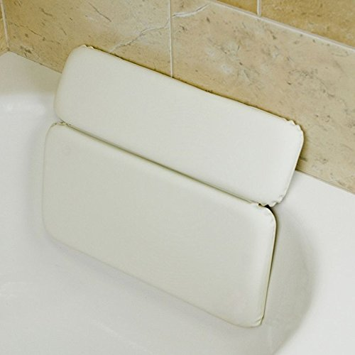 Luxury Comfort Large White Vinyl & Foam Relaxing Neck Spa Bath Pillow Hot Tub by Deluxe Comfort (Image #3)