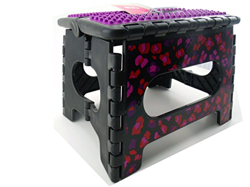 9″ Plastic Folding Floral Step Stool (Black)