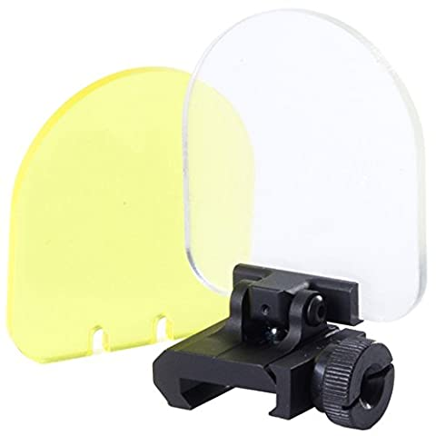 SportPro Flip Up Scope Lens Protector Mount for AEG GBB Airsoft – Black (Echo Zoom Scope)