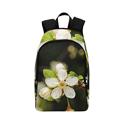 XINGCHENSS Mirabelka Flowers Mirabelle Plums Plum Flower Casual Daypack Travel Bag College School Backpack Mens Women