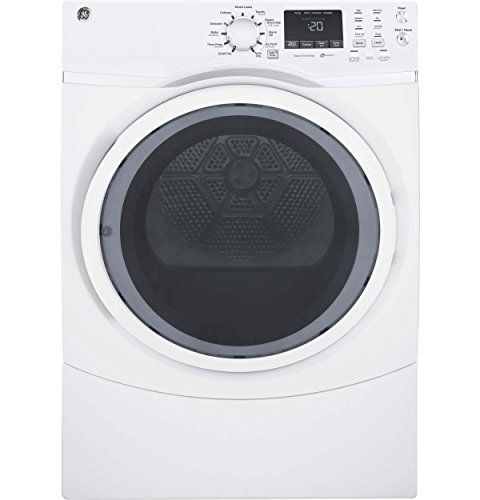 GE GFD45ESSKWW 7.5 Cu. Ft. White Stackable Electric Dryer