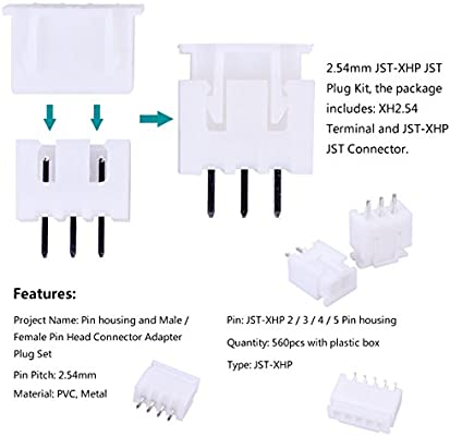 300X KF2510 2.54mm Female Terminals 2//3//4//5//6 Pin Housing Connector Adapter Plug