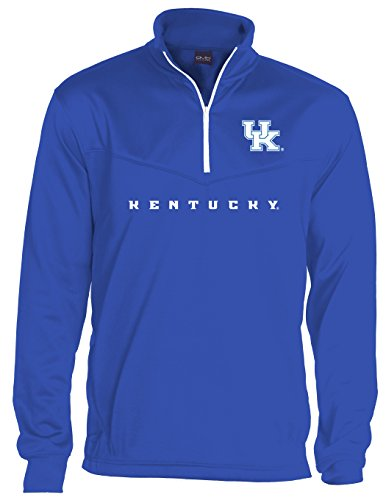 NCAA Kentucky Wildcats Men's Big Qtr Zip Fleece Sweatshirts, 3X-Large, Royal Blue
