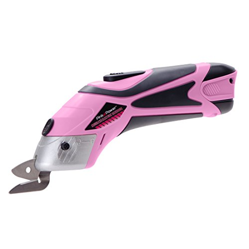 - Pink Power Electric Fabric Scissors Box Cutter for Crafts, Sewing, Cardboard, Scrapbooking - Cordless Shears Cutting Tool