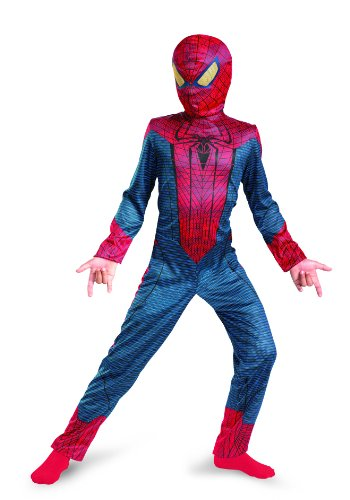 Spiderman Costumes Movie (The Amazing Spider-man Movie Classic Costume, Red/Blue, Small (4-6))