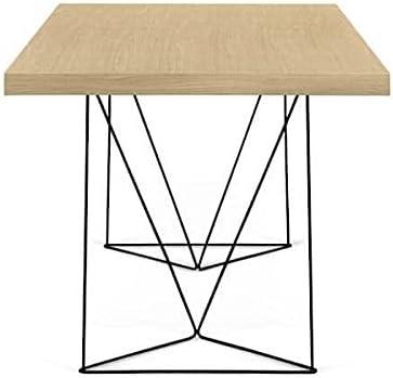 mds Bureaux et Tables Multi 160 ou Multi 180, épurés et Fonctionnels. TEMAHOME - Multi 160 cm, Chêne (placage), Pieds chromés