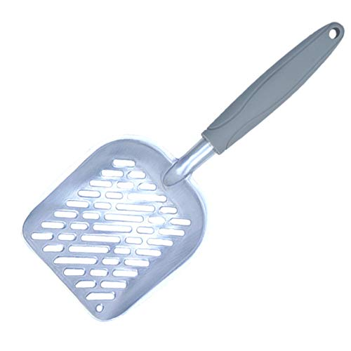 TRRAPLE Cat Litter Scoop, Pet Scooper Shovel Tool with Long Handle, Solid Aluminium Alloy Sifter, 1 Pcs Pet Cleaning…