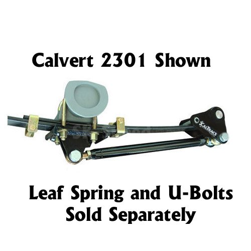 Calvert Racing 2381 CalTrac Low Profile Leaf Spring Traction Bars - 1968-1979 Nova/Omega/Ventura/Apollo ()