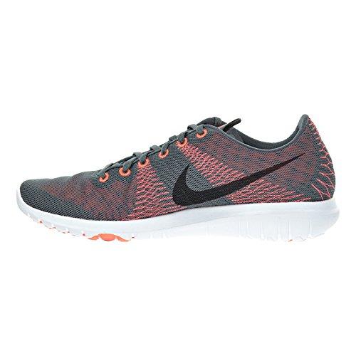 Nike Flex Fury Mens Scarpe Da Corsa Grigio Scuro / Nero / Arancio Iper / Brillante Cremisi 705298-012