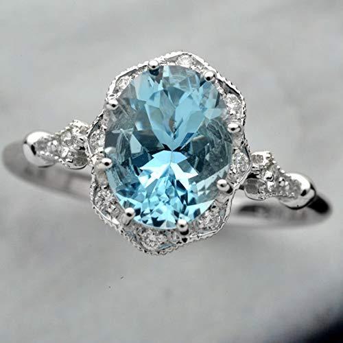Mioloe Ladies Cushion Cut Morganite 925 Sterling Silver Diamond Ring