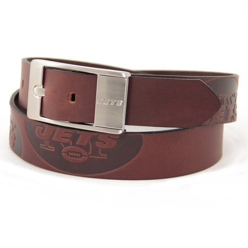 NFL Dallas Cowboys Brandish Leather Belt - Brown (44)