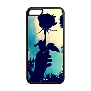 Fashion Protector Vintage Flower Retro Rose Back Hard Cover Case For iPhone 5c