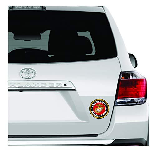 A&B Traders United States Marine Corps Sticker - USMC Decal US Military Stickers for Car/Truck Windows, 4 inches Military Car Decals. ()