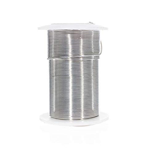 Craft County Tarnish Resistant Copper Craft Wire – Multiple Gauges – Gold and Silver Finishes – Ideal for Jewelry Making, Ornament Crafting, Wire Sculptures, and Much ()