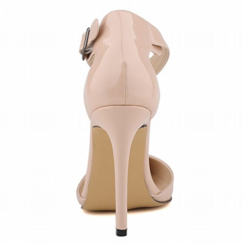 Tomwell Court Shoes for Women PU Slip On Pointed Toe Stiletto High Heel Wedding Formal Shoes Ankle Strap Buckle Sandals Work Pumps Party Dress Purple 9KE1J