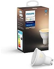 Philips Hue Spot 1-Pack - GU10 - Duurzame LED Verlichting - Warm tot Koelwit Licht - Dimbaar - Verbind met Bluetooth of Hue Bridge - Werkt met Alexa en Google Home