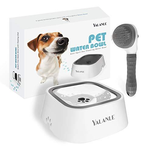 YALANLE Dog Water Bowl No-Spill Pet Water Bowl Slow Water Feeder No-Slip Pet Water Dispenser 35oz Capacity Water Bowl…