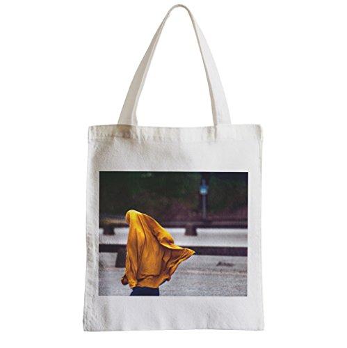 Grande Shopping Bag Donna Studentessa Spiaggia Vela Gialla
