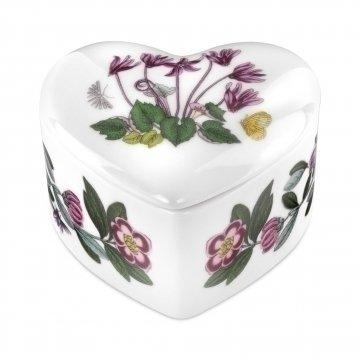 Portmeirion Botanic Garden Heart Trinket Box 3.5in