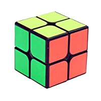 GCA YJ GuanPo Smooth Speed 2x2 Stickerless Puzzle Cube, Black