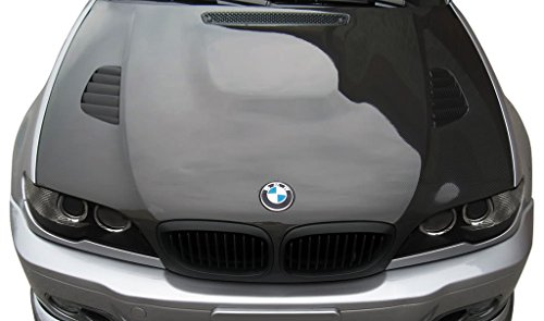 Aero Function Replacement for 2004-2006 BMW 3 Series E46 2DR Carbon AF-2 Hood (CFP) - 1 Piece ()