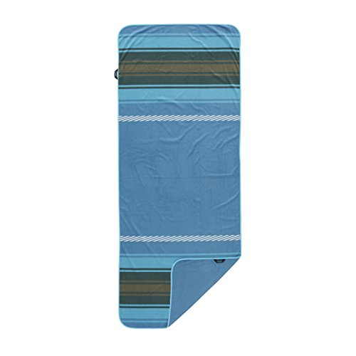 Rumpl The Shammy Towel | Super Absorbent Towel for Travel, Baths, Yoga, Beach Trips, Swimming, Sports, and More | 1-Person, Slate Blue